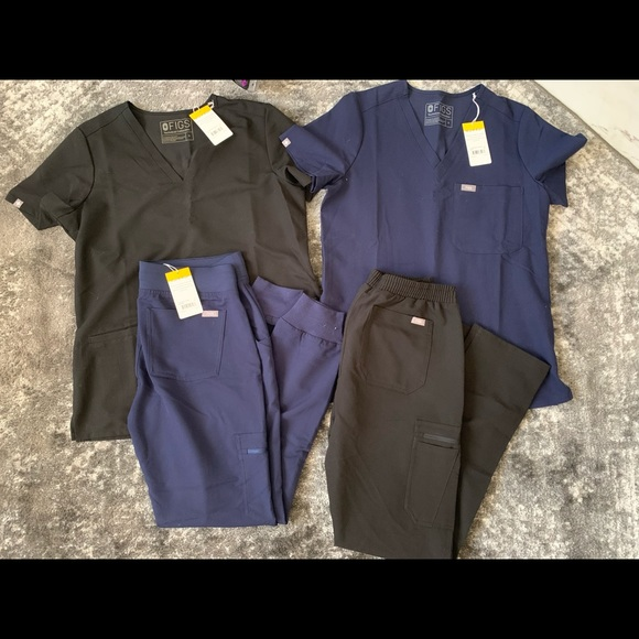 Figs scrubs (navy and black)